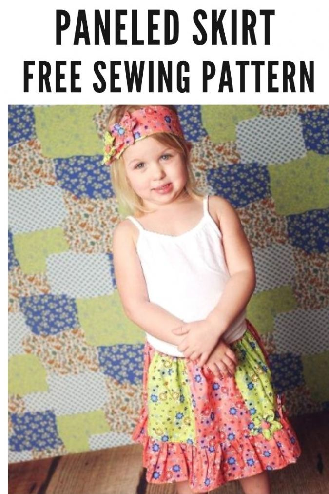 Paneled Skirt Sewing Pattern for Girls.