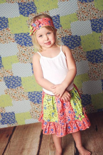Easy skirt sewing tutorial for girls.
