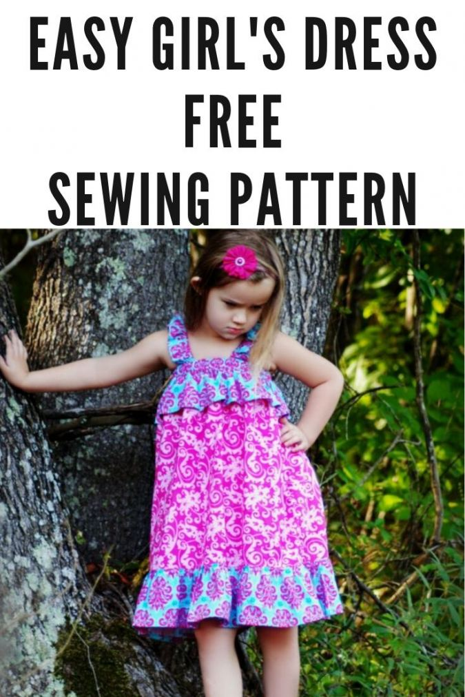 Easy Dress Sewing Pattern for Girls, 6 months to 10 years, Chloe Ruffled Sundress