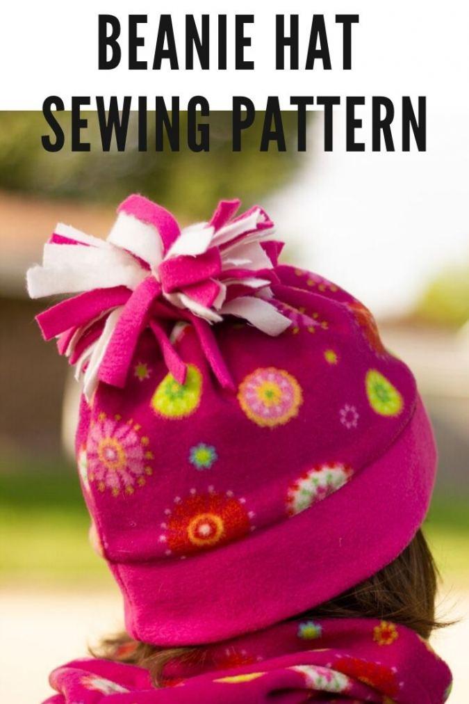 Free Beanie Hat Sewing Pattern, Newborn to Adult Woman
