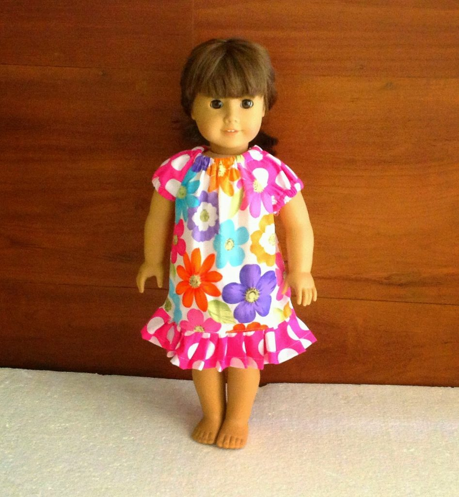 doll peasant dress pattern