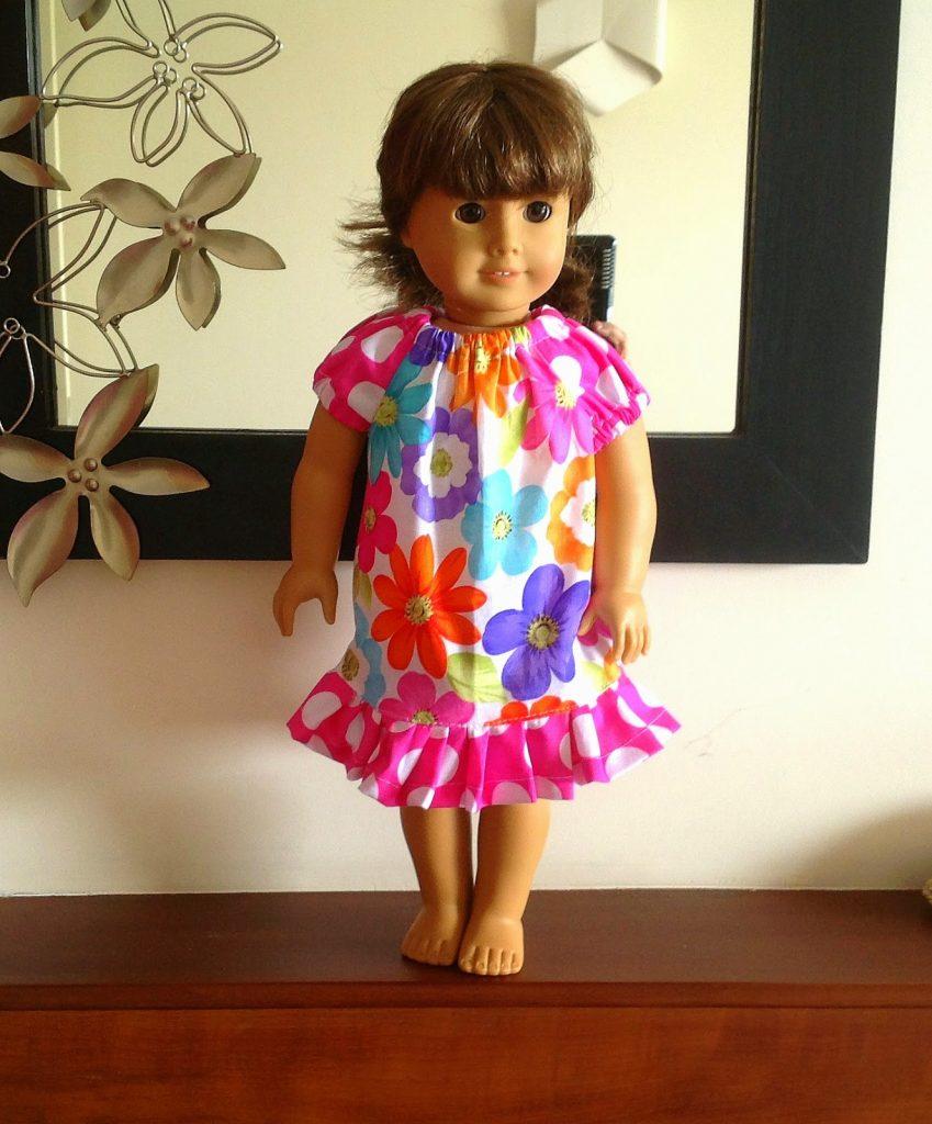 doll peasant dress sewing pattern