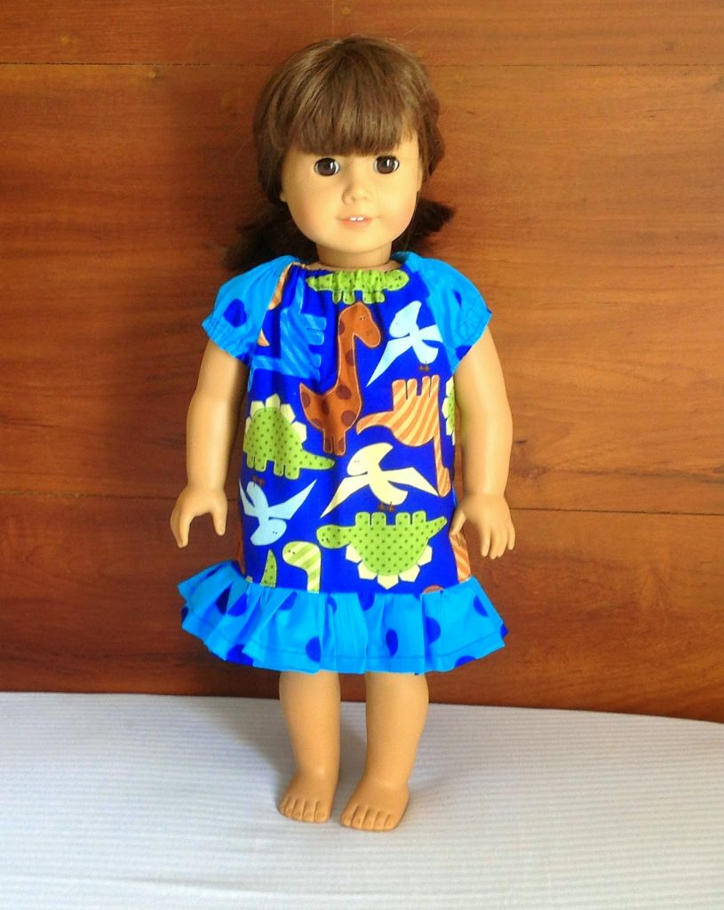 peasant dress sewing pattern for American girl dolls.