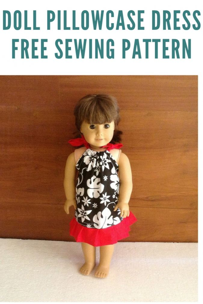 Pillowcase Dress Pattern for 18-inch Dolls, Sewing Pattern Dress for American Dolls.