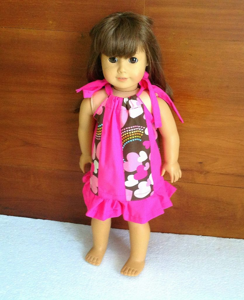 Learn how to sew these easy pillowcase dress for your dolly, using this tutorial.