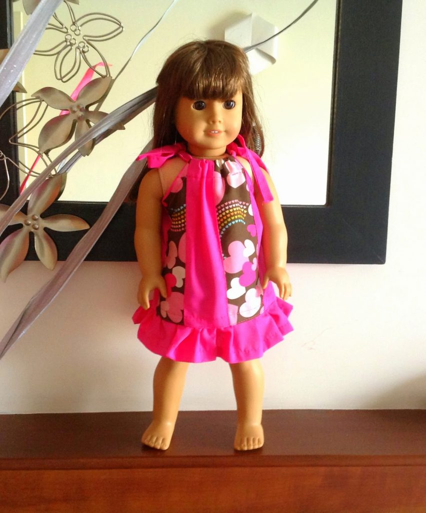 Cute little pillowcase dress for your American doll! Sew it simple or sew the more versatile paneled one, to get different styles of doll dresses!