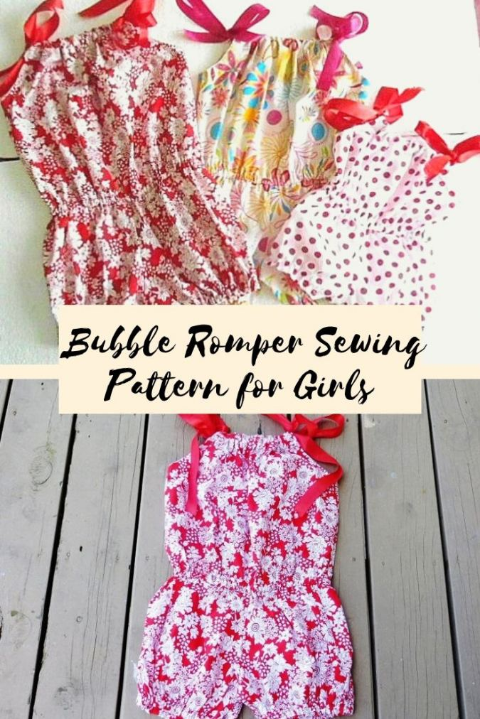 Romper Sewing Pattern, Pillowcase Bubble Romper