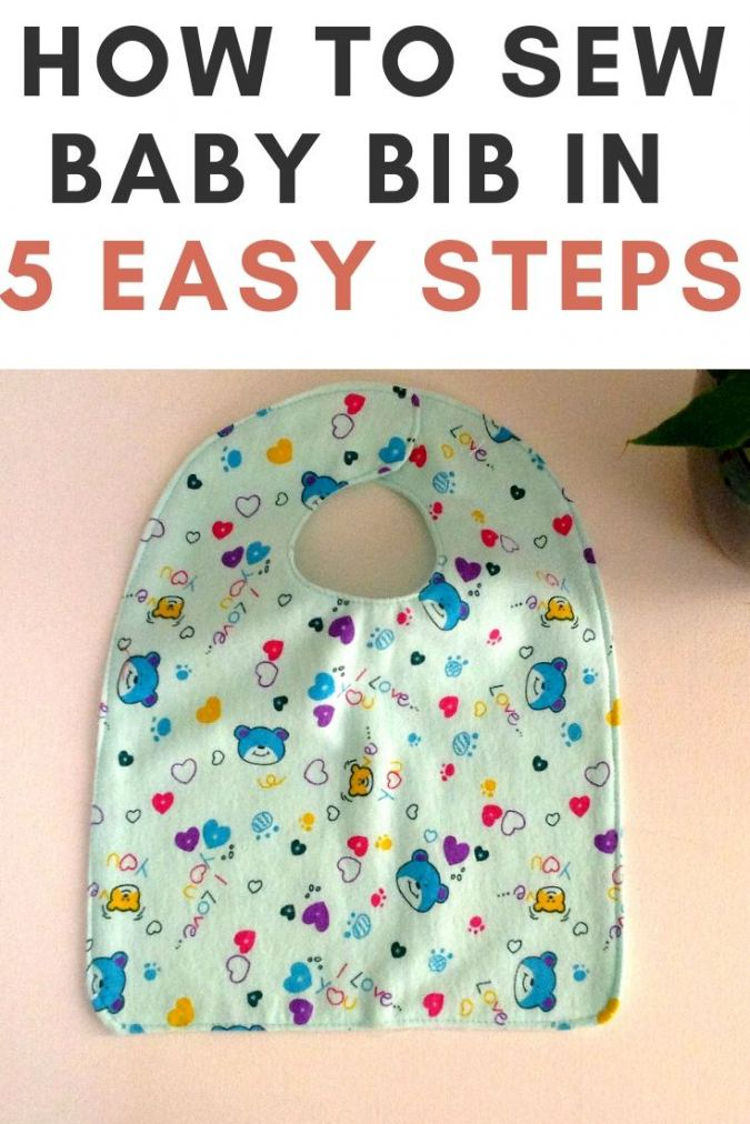 How to Sew a Baby Bib in 5 Steps