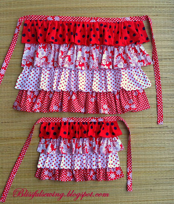 apron, sewing, pattern, girl, girls,adult, women, stitching, tutorial, ruffled, easy, free, diy, clothing, dress