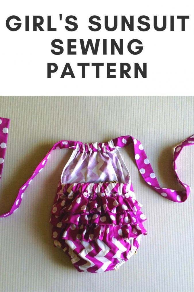 Sunsuit Sewing Pattern, Newborn to Two Years, Ruffled Romper Pattern