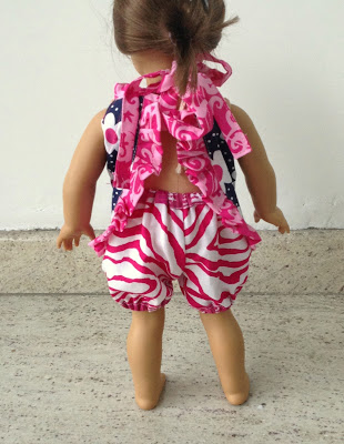 Doll shorts sewing pattern.