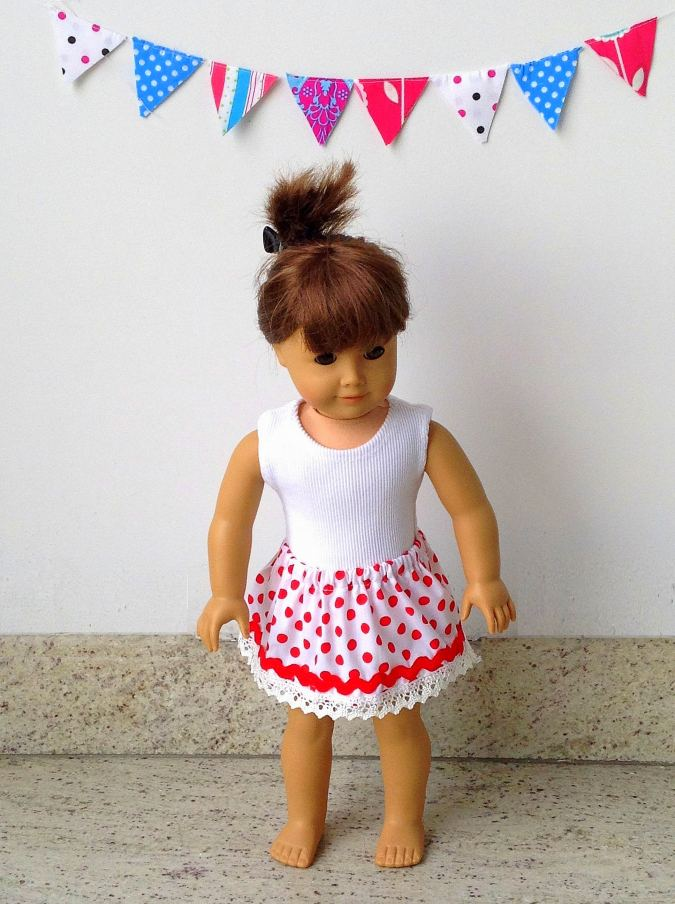 Free skirt pattern for 18 inch American Doll
