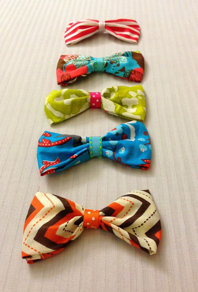 This is an easy bow sewing pattern, with instructions to make it in three different sizes