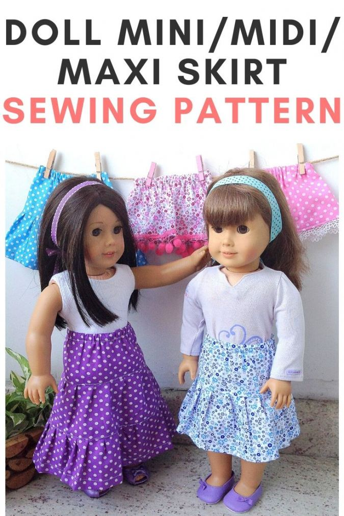 Doll Skirt Sewing Pattern Free, American Doll Pattern