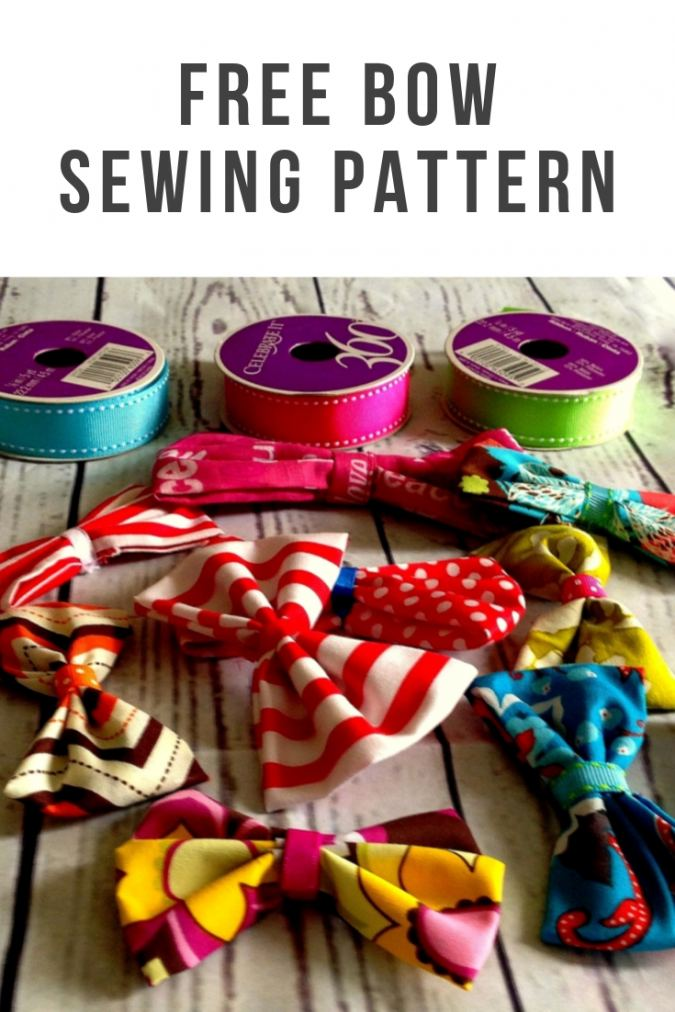 Bow Sewing Pattern Free, DIY Fabric Bow.