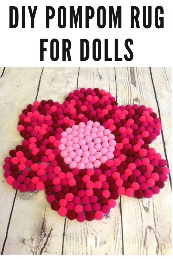 Diy Pompom Rug for American Girl Doll