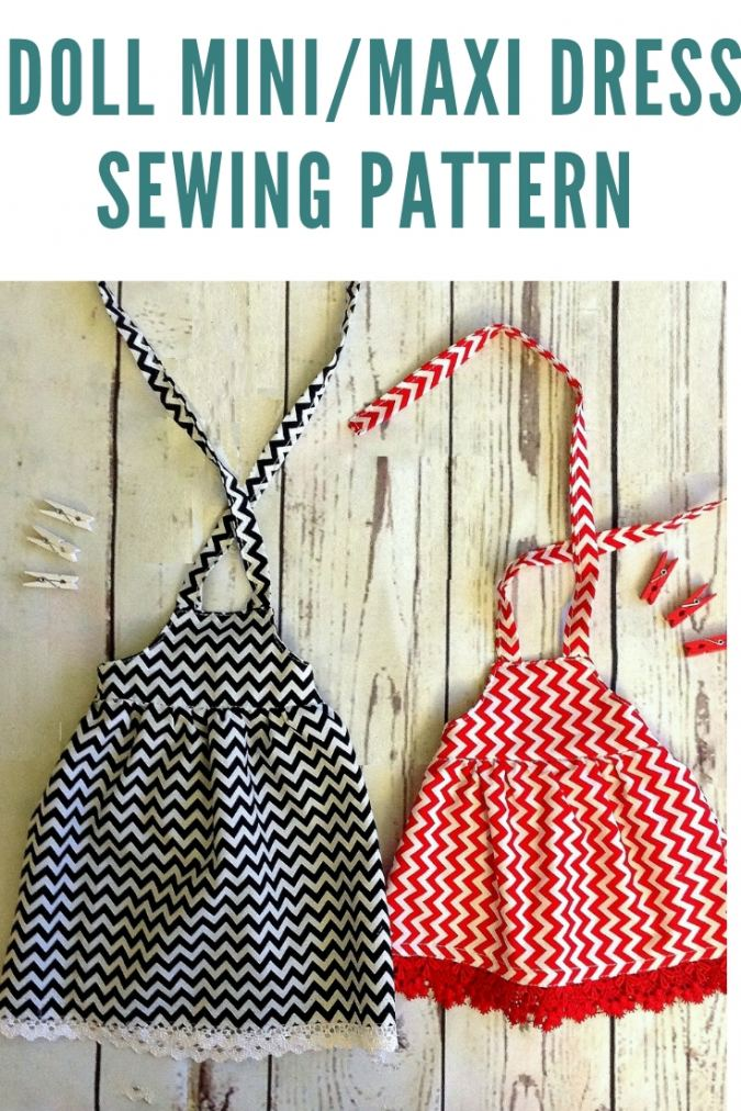 18- Inch American Doll Midi/ Maxi Dress Sewing Pattern Free.