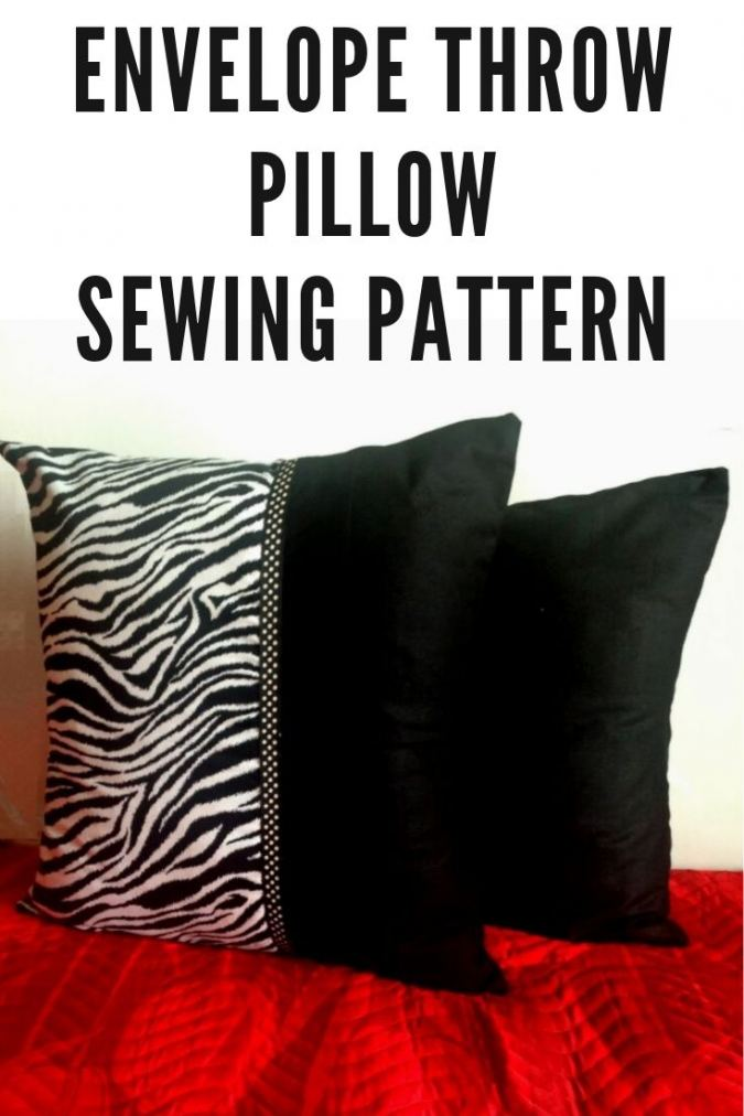 DIY Throw Pillow, Easy Envelope Pillow Tutorial