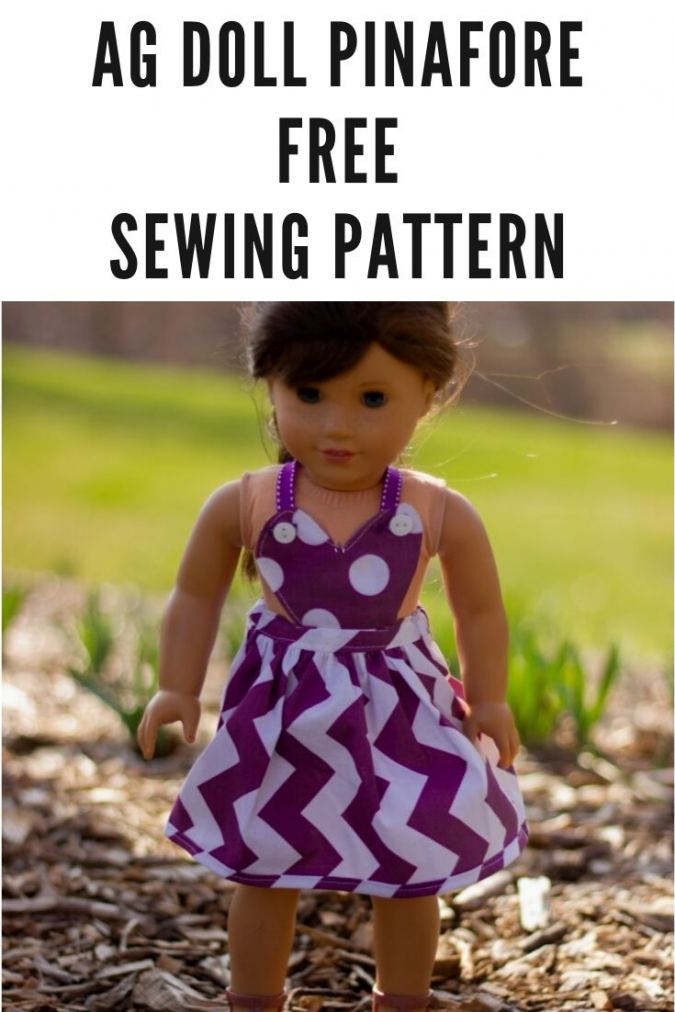 AG Doll Pinafore Sewing Pattern