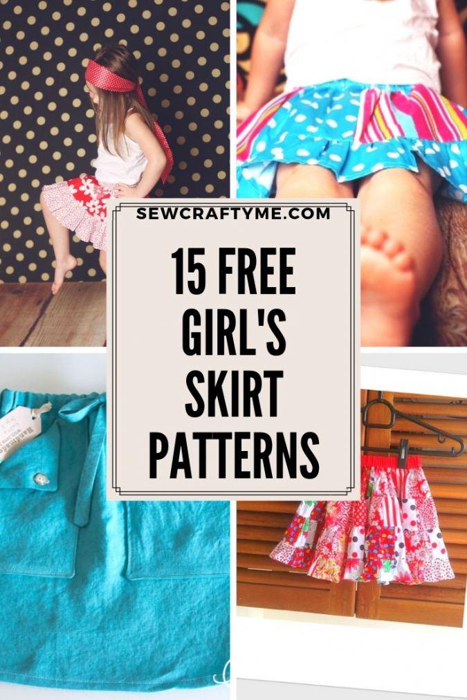 15 Free Girls Skirt Sewing Patterns