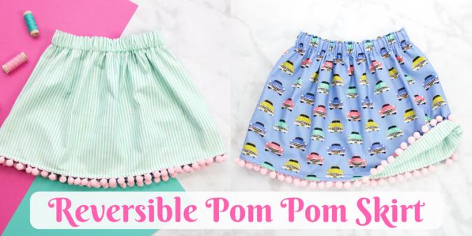 Reversible Pom Pom Skirt