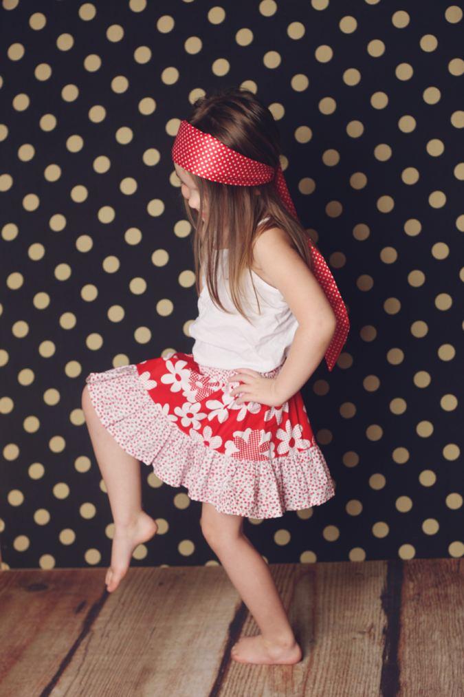 girls skirt sewing pattern
