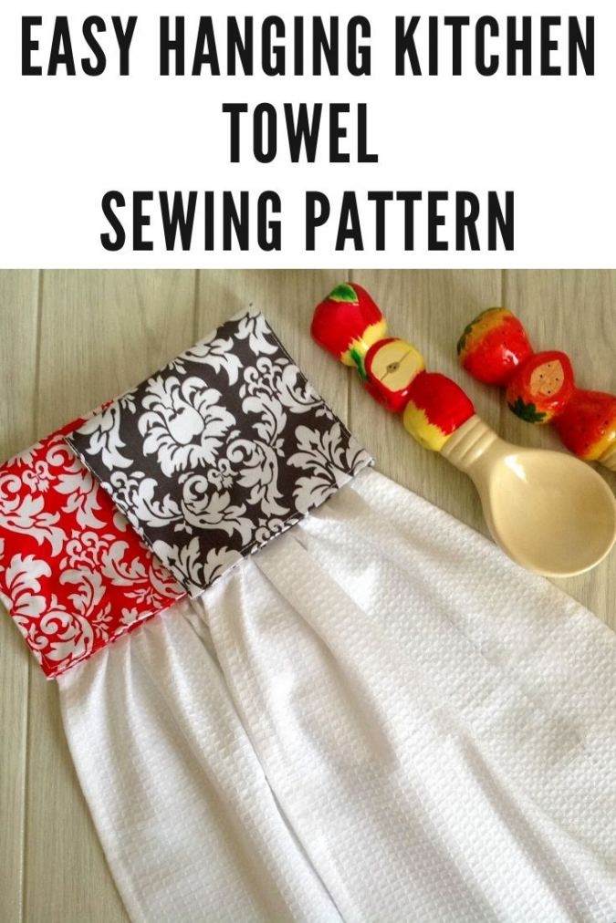 Easy Hanging Kitchen Towel Pattern
