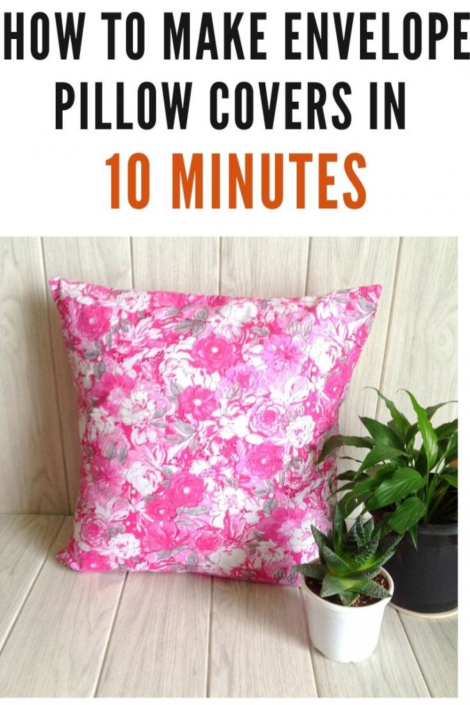How to Make Envelope Pillow Covers