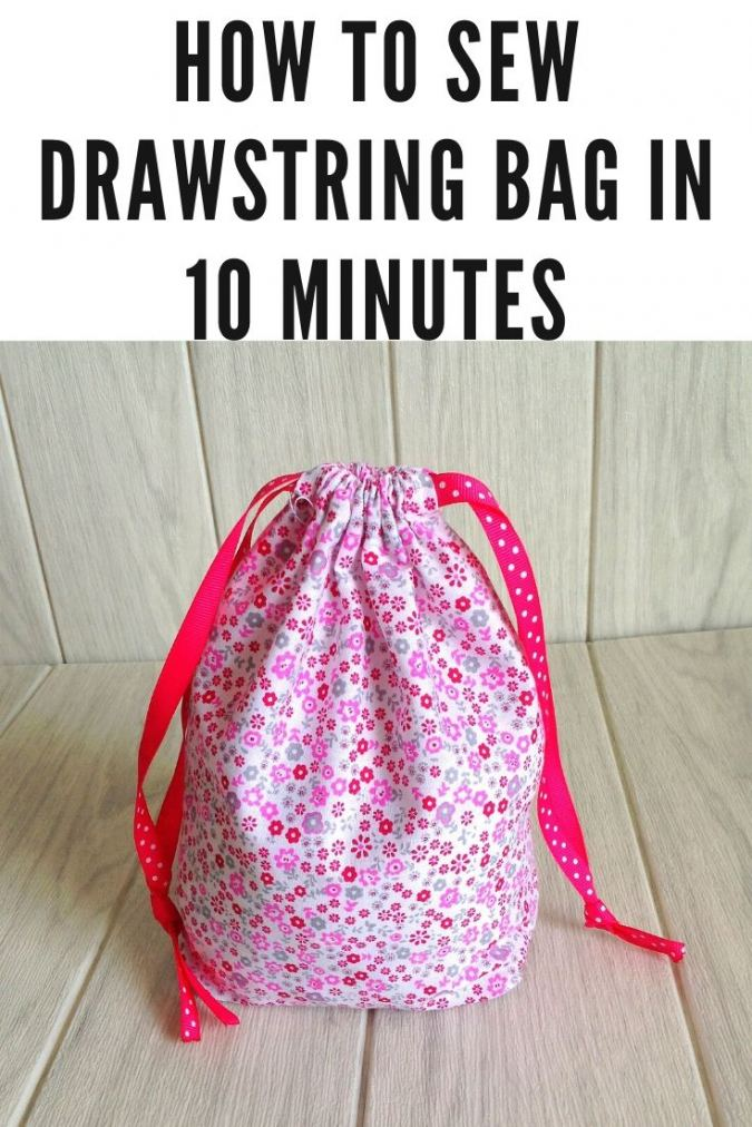How to Sew a Drawstring Bag ( Easy Sewing Project)