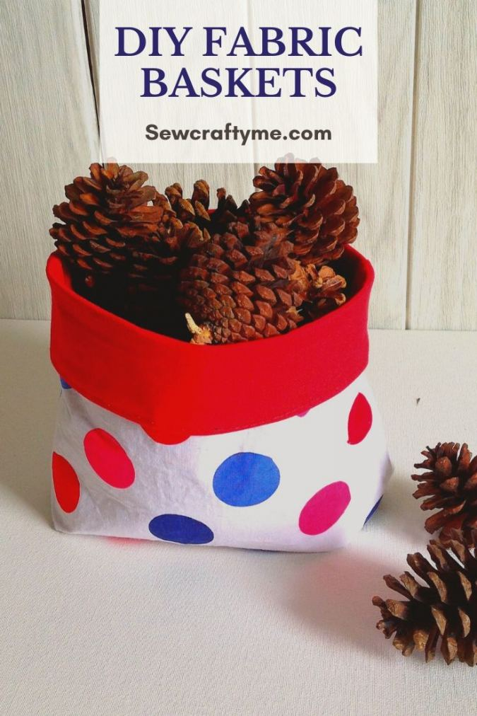 DIY Reversible Fabric Baskets ( Easy Sewing Project)