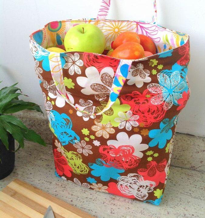Easy Reusable Reversible Grocery Bag