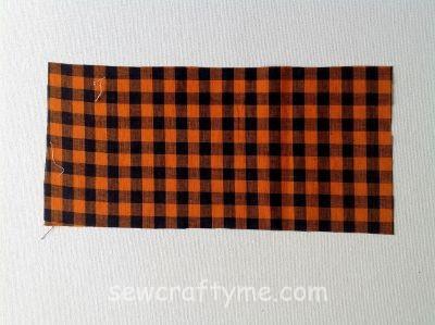 Free Plaid Fabric Pumpkin Pattern
