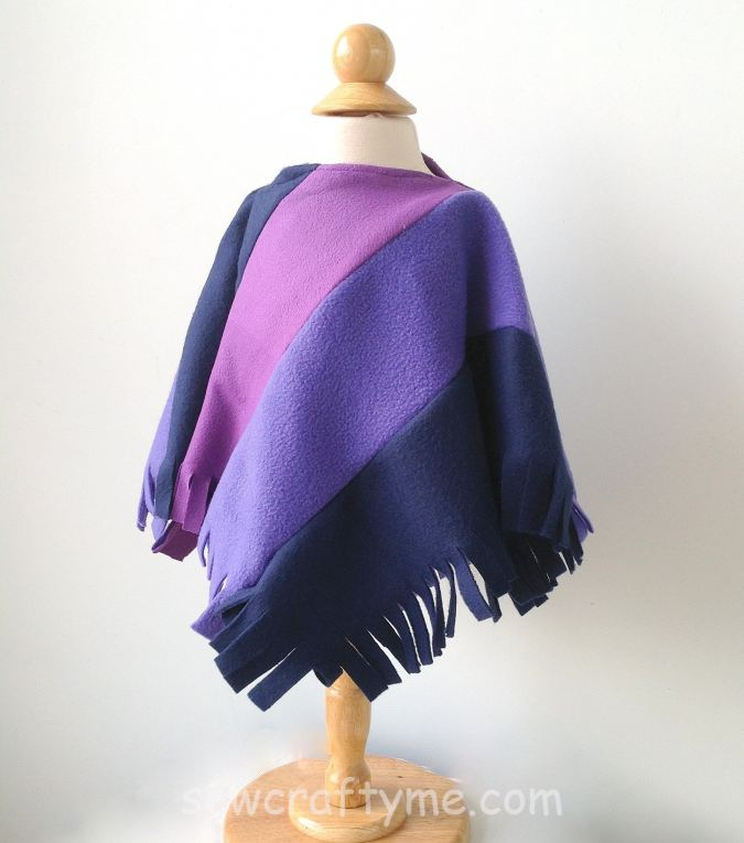 Child's Colorblock Poncho Pattern