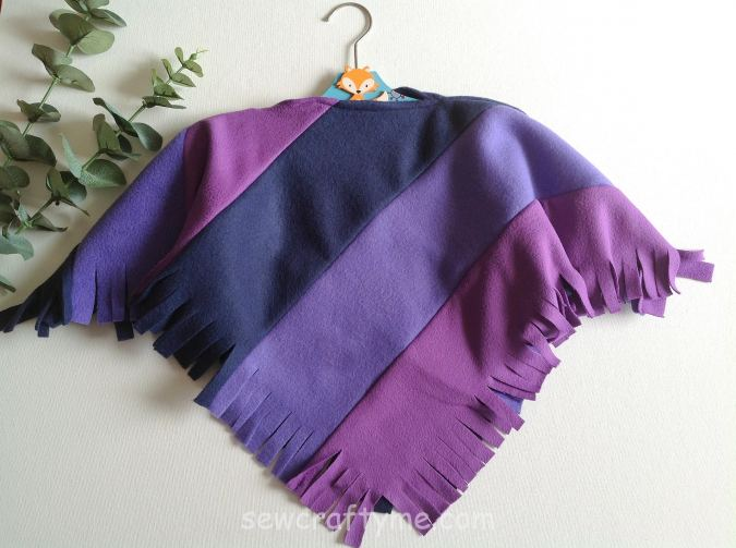Child's poncho sewing pattern