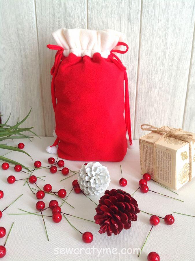 How to make a santa sack
