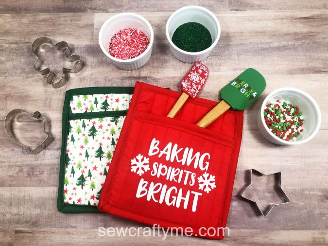 How to sew a christmas potholder