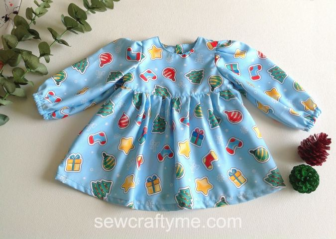 How to make a baby dress with sleeves