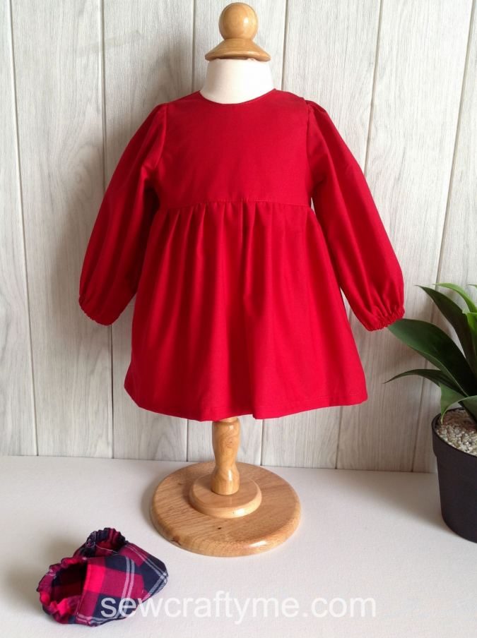 Baby Dress with Sleeve Sewing Pattern