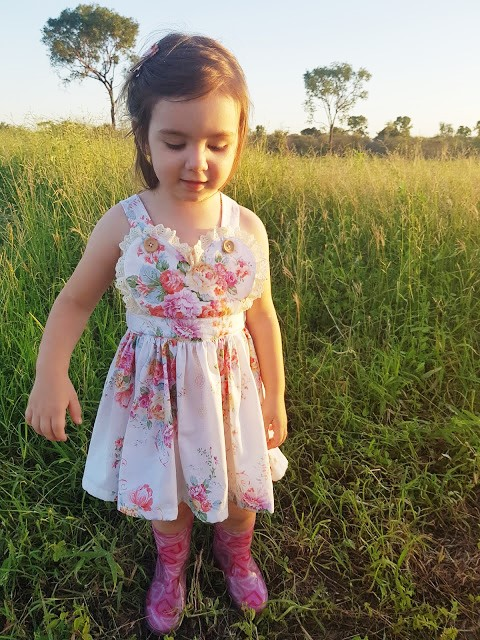 Girl's Heart Pinafore Sewing Pattern