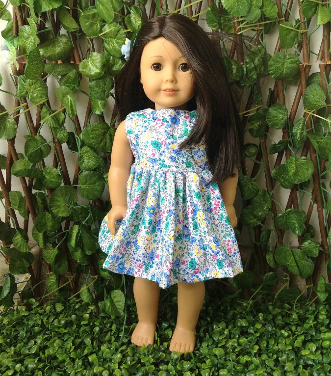 Classic Style Doll Dress Sewing Pattern