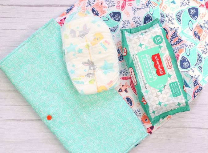 diaper clutch and changing mat pattern